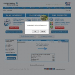 MyWebToNet Order Proceed To Payment