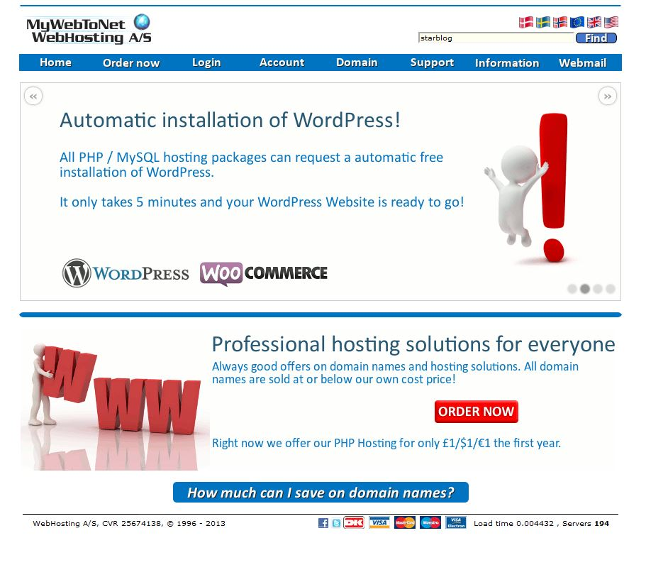 Create a MyWebToNet WordPress Site | How to register your