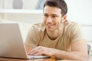 Average Man with Laptop